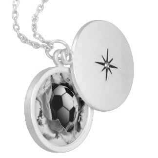 Girls Soccer Silver Plated Necklace