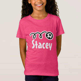 Girl's soccer t-shirts | Personalized name