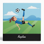 Girl's Soccer Themed Binder with Name