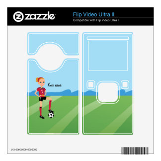 Girl's Soccer Themed Skin Flip Video Ultra II Skins