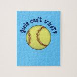 Girls Softball-Blue Puzzle