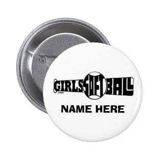 GIRLS SOFTBALL  (CUSTOM) PINBACK BUTTONS