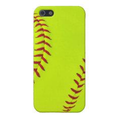 Girls softball iPhone 5/5s case at Zazzle