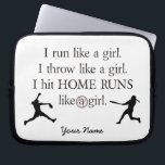 """Girls Softball Laptop Sleeve<br><div class=""""desc"""">Show your love for softball with this cool laptop sleeve!</div>"""