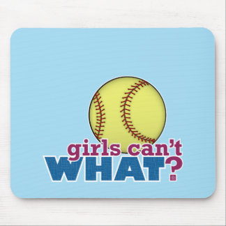 Girls Softball Mouse Pad