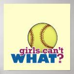Girls Softball Posters