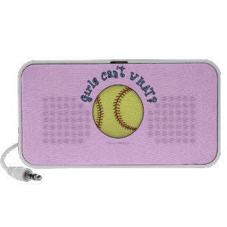 Girls Softball-Sky Blue Text Mini Speaker