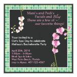 Girl's Spa Day! 5.25x5.25 Square Paper Invitation Card