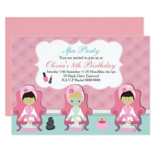 Spa party invitations zazzle girls spa invitation pamper party invite filmwisefo