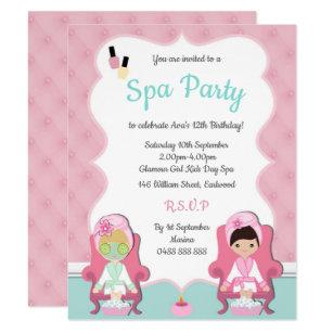 Spa Day Invitations Zazzle