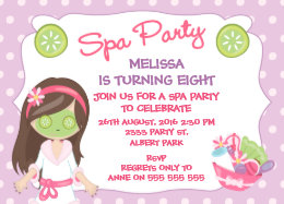 Spa party invitations announcements zazzle girls spa party birthday party invitation stopboris Image collections