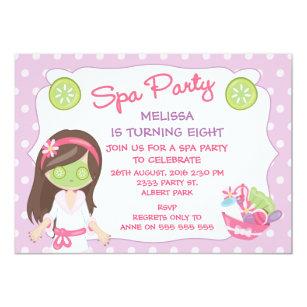 Spa party invitations zazzle girls spa party birthday party invitation filmwisefo