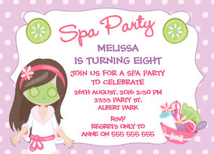 Spa Party Invitations | Zazzle