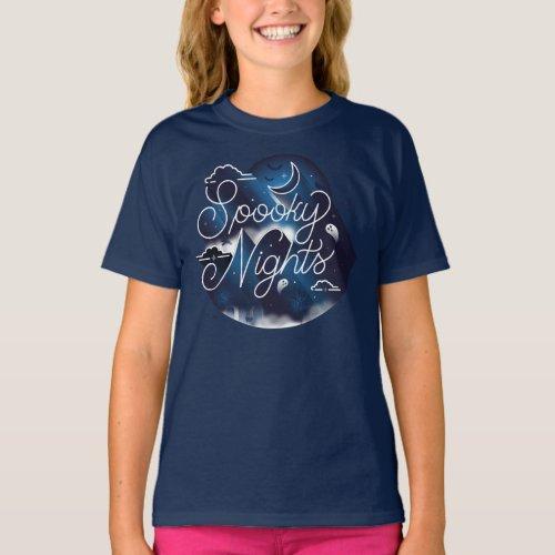 Girls Spooky Nights T_Shirt  Navy Blue