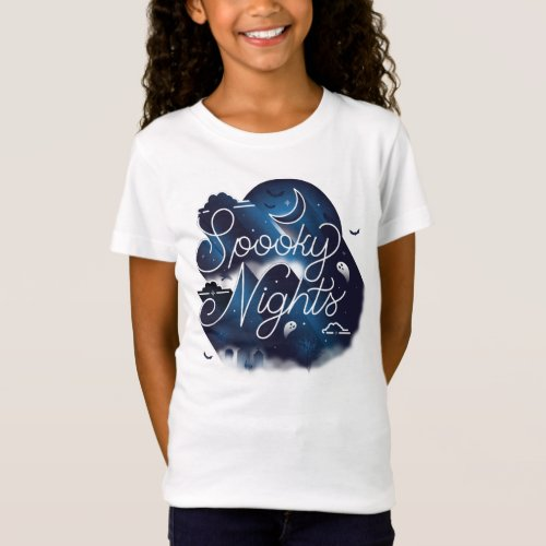 Girls Spooky Nights T_Shirt  White