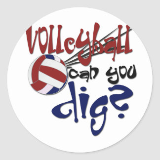 Girls Sports Classic Round Sticker