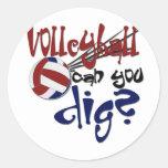 Girls Sports Round Stickers