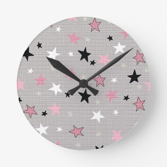 Girls starry night clock