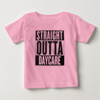 Girl's Straight Outta Daycare Funny Tee