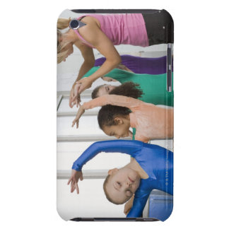 Girls stretching in gymnastics class barely there iPod covers