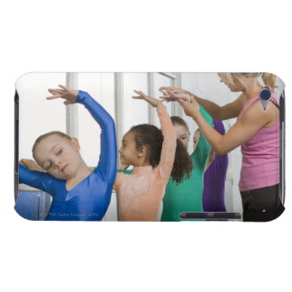 Girls stretching in gymnastics class iPod touch Case-Mate case
