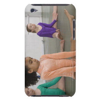 Girls stretching in gymnastics practice barely there iPod covers