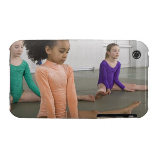 Girls stretching in gymnastics practice iPhone 3 case