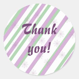 Girl's stylish purple thank you envelope seals