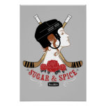 Girls Sugar and Spice Hockey Room Poster