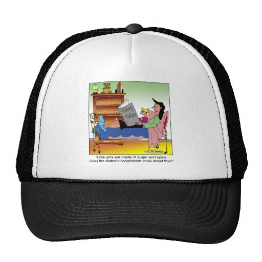 Girls, Sugar, Spice & Diabetes Mesh Hat