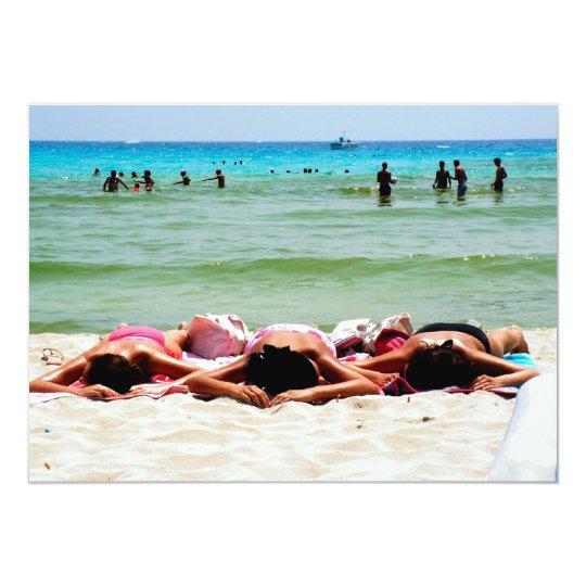 Girls Sunbathing Invitation