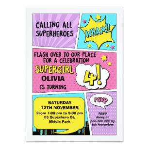 4th birthday invitations zazzle