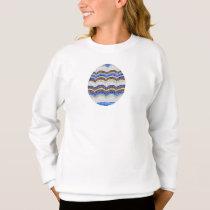 Girls' sweatshirt with blue mosaic
