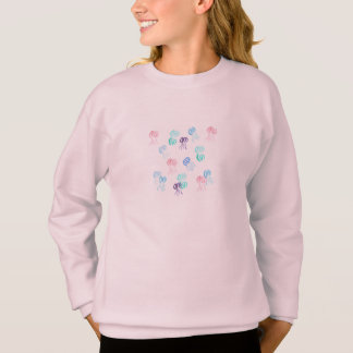 Girls' sweatshirt with jellyfishes