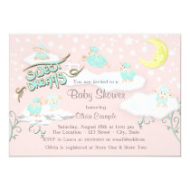 Girls Sweet Dreams Baby Shower Card