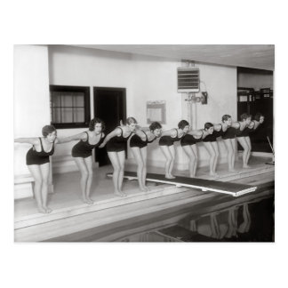 Girls Swim Team, 1930 Postcard