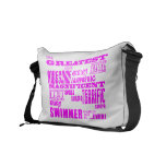 Girls Swimmers : Pink Greatest Swimmer Courier Bag