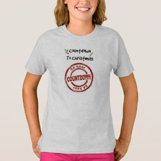 Girls' Tagless T-Shirt Countdown to Christmas