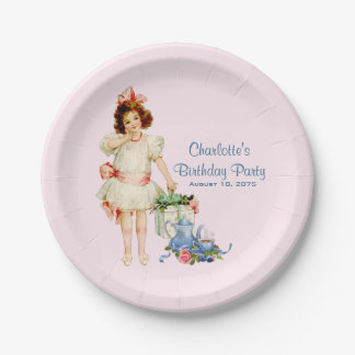 Girls Tea Party Paper Plate