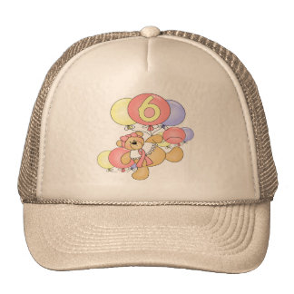 Girls Teddy Bear 6th Birthday Gifts Trucker Hat