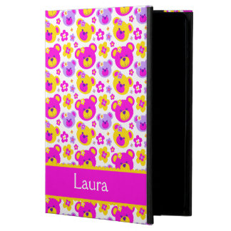 Girls teddy bear flower graphic ipad powis case