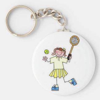Girls Tennis Keychain