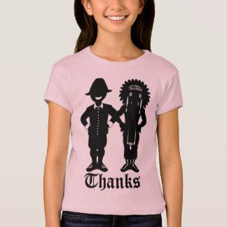 Girl's Thanksgiving T-shirt Kid's Holiday Shirt