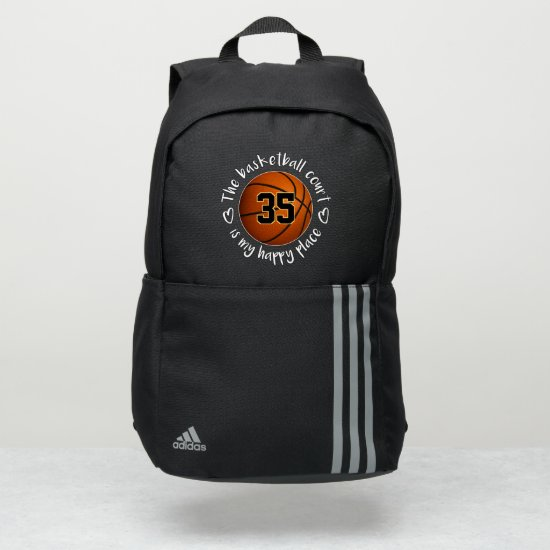 girls The basketball court is my happy place Adidas Backpack