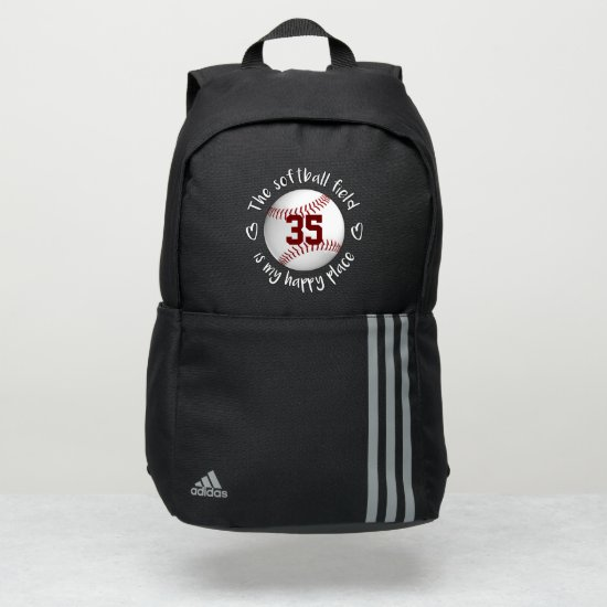 girls The softball field is my happy place Adidas Backpack