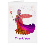Girl's Tooth Fairy Thank You Card