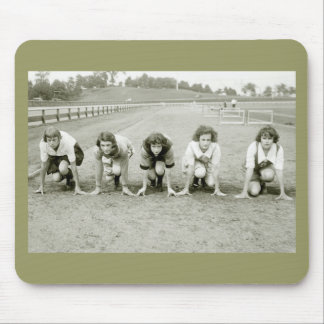 Girls Track, 1920s Mouse Pad