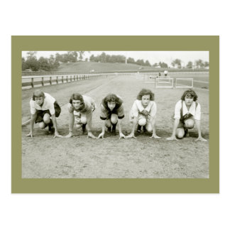 Girls Track, 1920s Postcard