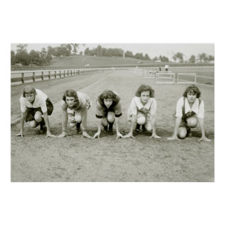 Girls Track, 1920s Poster