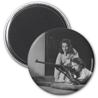 Girls Training in Victory Corps Rifle Marksmanship Magnet